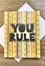 Fiber and Gloss You Rule (Rulers) Greeting Card
