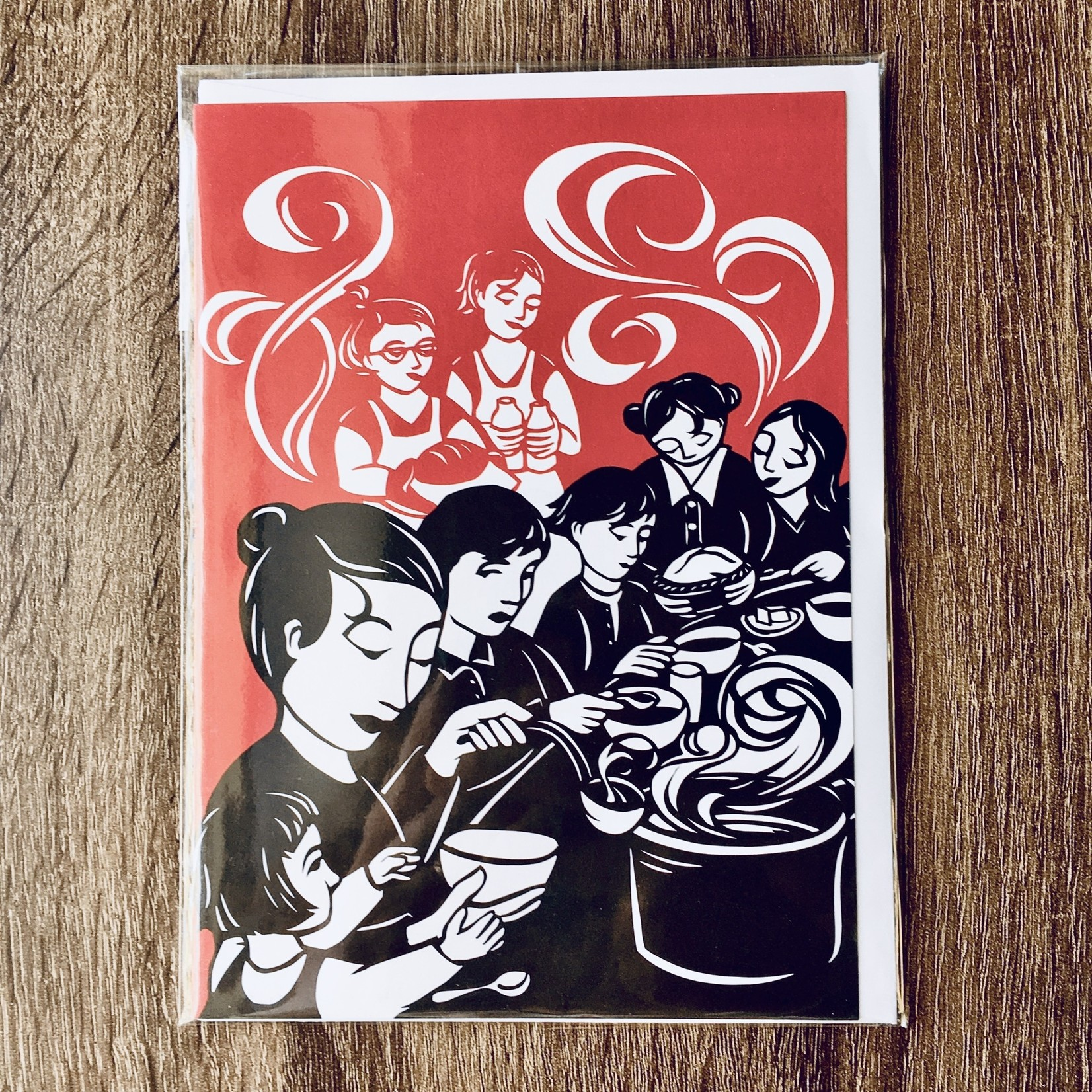 Nikki McClure Share Your Table Papercut Notecard & Envelope