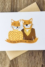Arthur's Plaid Pants Fantastic Mr. Fox Greeting Card