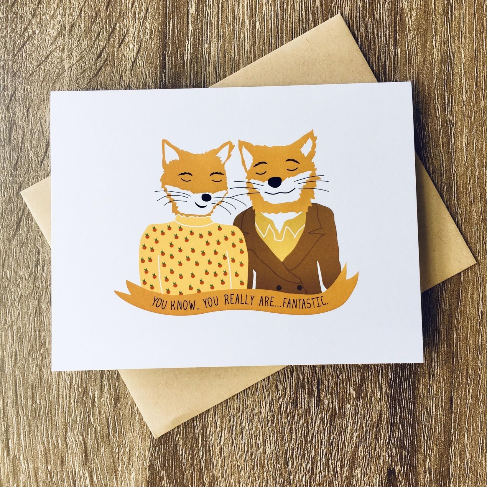 Arthur's Plaid Pants Fantastic Mr. Fox Greeting Card
