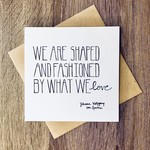 Lacelit Shaped and Fashioned Greeting Card