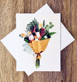 Kate Brennan Hall Illustration + Printmaking Flower Bouquet Greeting Card
