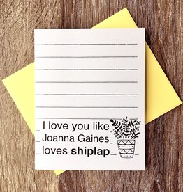 Paper Michelle Gaines Loves Shiplap Greeting Card
