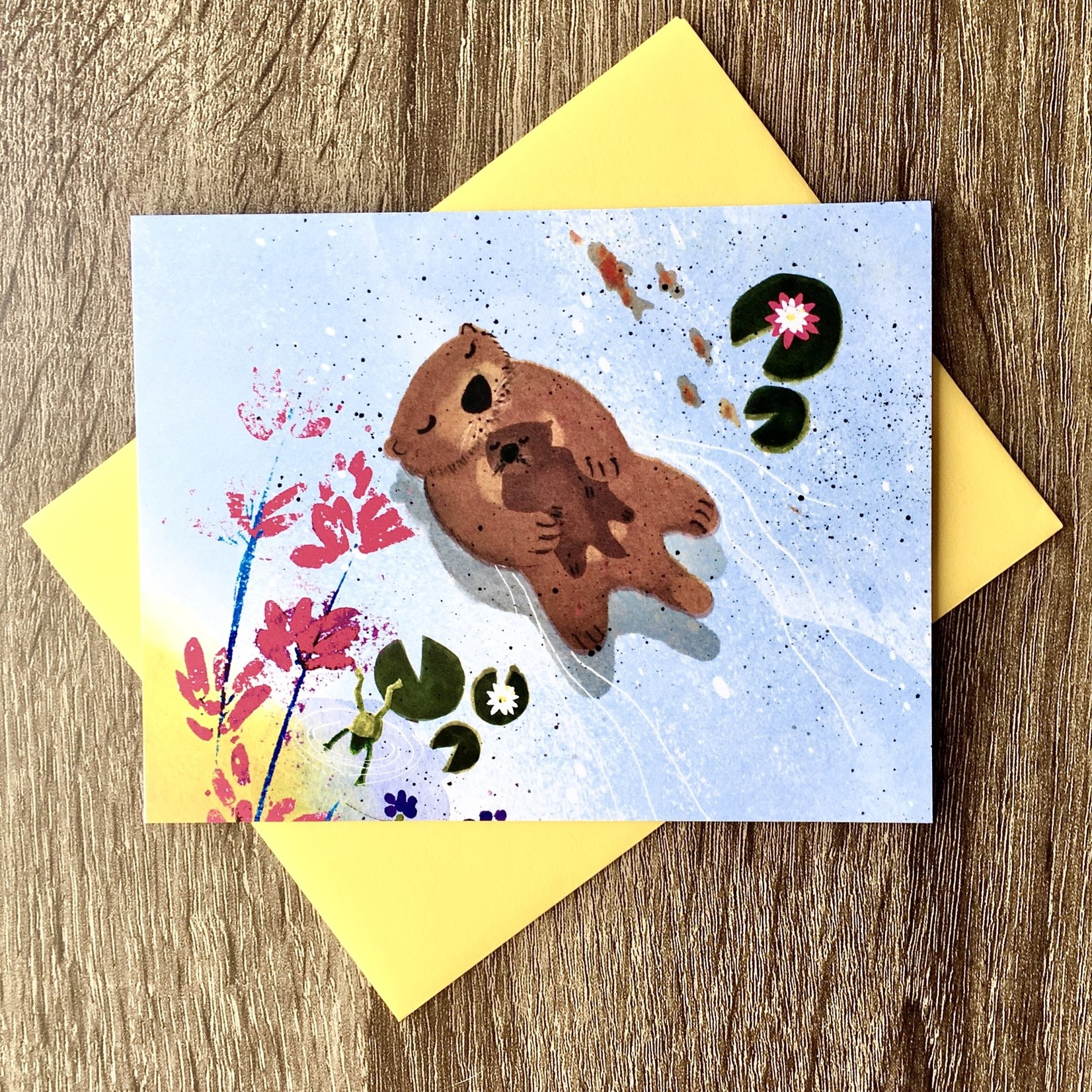 An Open Sketchbook Mama Otter Greeting Card