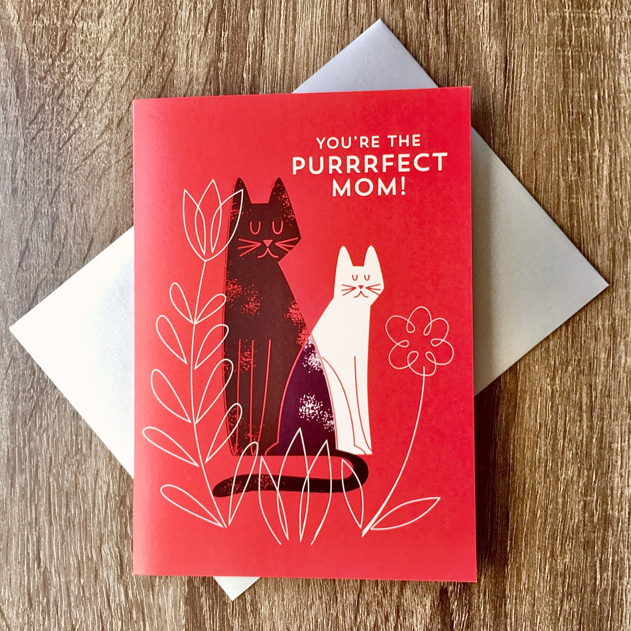 Design With Heart Purrfect Mom Cats Greeting Card
