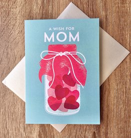 Design With Heart A Wish For You Mom Jar Greeting Card