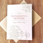 Design With Heart Wonderful Mother Floral Mother's Day Greeting Card