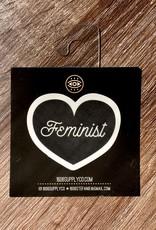 1606 Feminist Black Heart Sticker