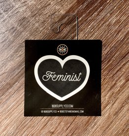 1606 Feminist Black Heart Sticker
