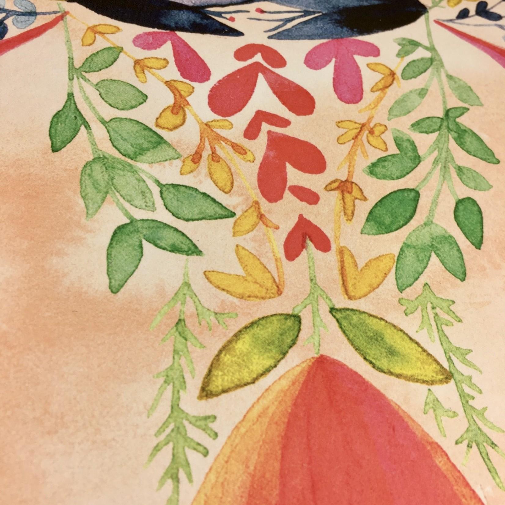 Meera Lee Patel Floral Watercolor Female 11x14 Art Print