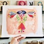 Meera Lee Patel (APO) Floral Watercolor Female 11x14 Art Print