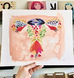 Meera Lee Patel Floral Watercolor Female 11x14 Art Print