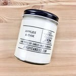 JKM Soy Candles BW: Apples & Oak Soy Candle