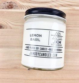 JKM Soy Candles BW: Lemon Basil Soy Candle