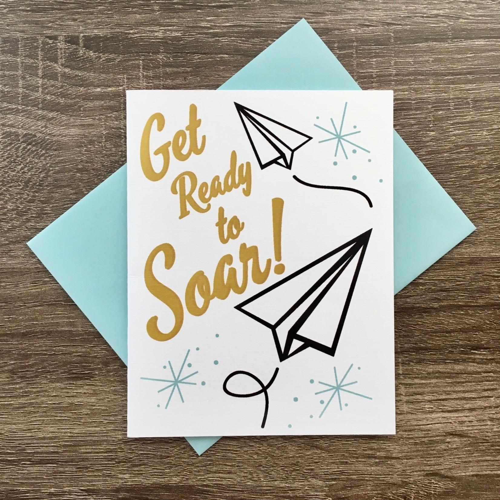 Beckamade Get Ready To Soar Greeting Card