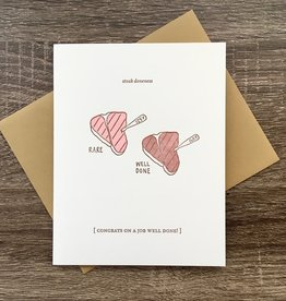 Nourishing Notes Steak Doneness Congrats Greeting Card