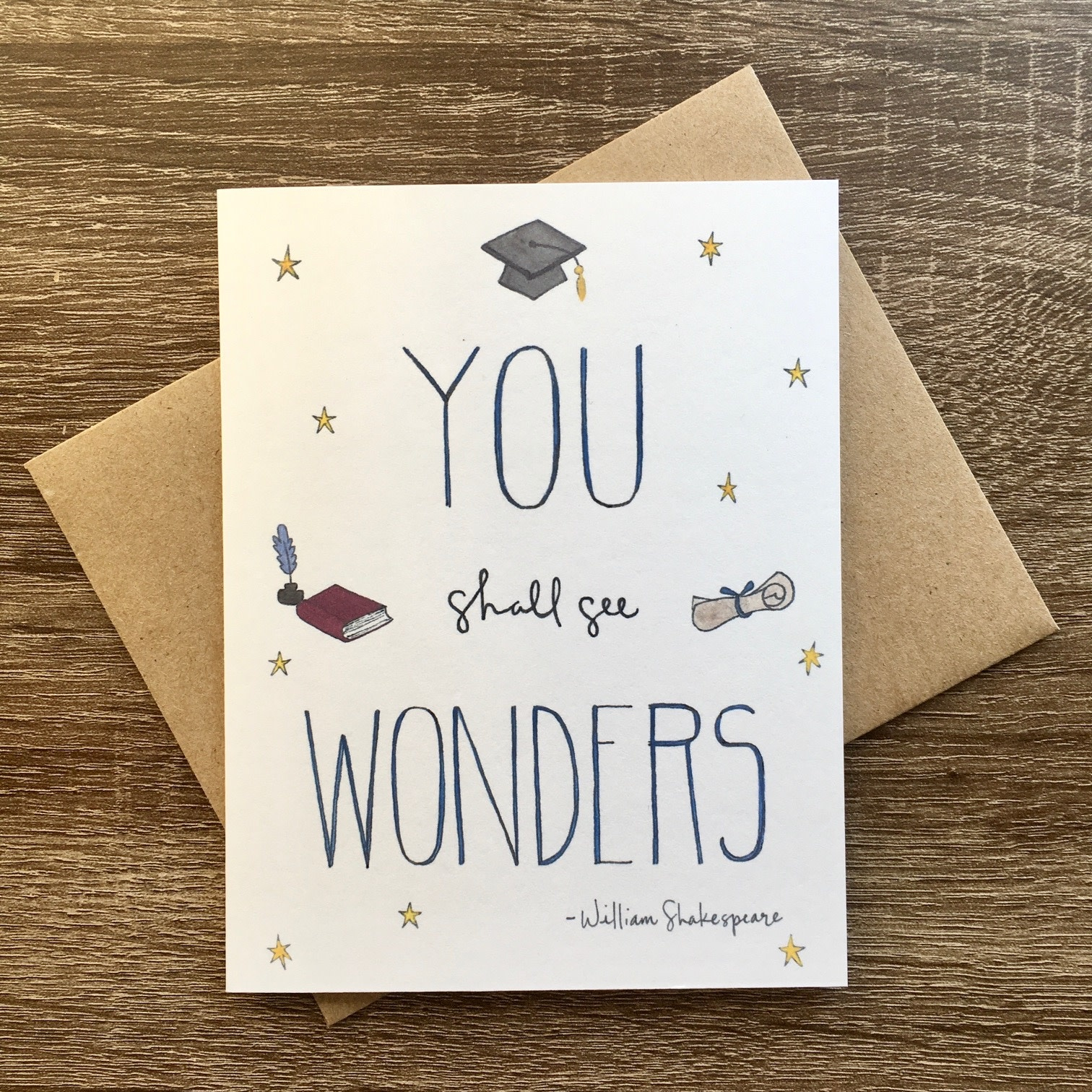 Lacelit You Shall See Wonders Graduation Greeting Card