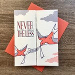 Blackbird Letterpress She Persisted Swallow Fold-Out Greeting Card