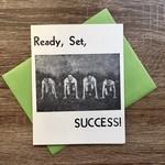 Igloo Letterpress Ready Set Success Runners Greeting Card