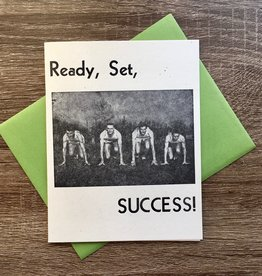 Igloo Letterpress Ready Set Success Runners Greeting Card