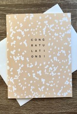 Evermore Paper Co. Congrats Speckle (Peach) Greeting Card