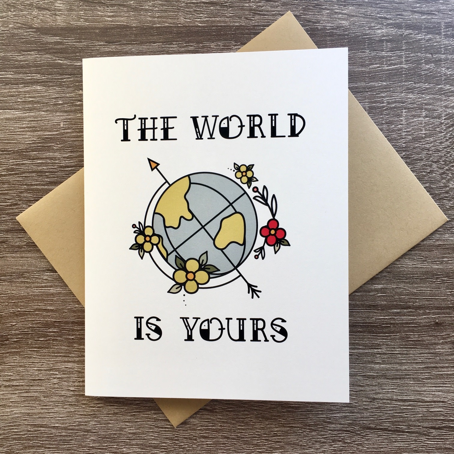 Box Berry The World Is Yours Globe Greeting Card