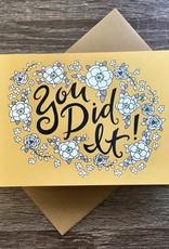 Champaign Paper You Did It Yellow Floral Greeting Card