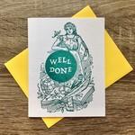 Igloo Letterpress Well Done Academic Woman Greeting Card