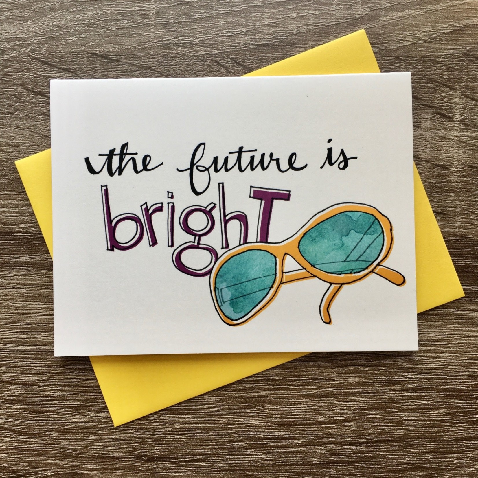 An Open Sketchbook The Future Is Bright Greeting Card