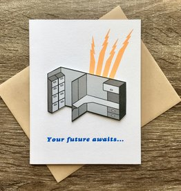 Cracked Designs Cubicle Your Future Awaits Greeting Card