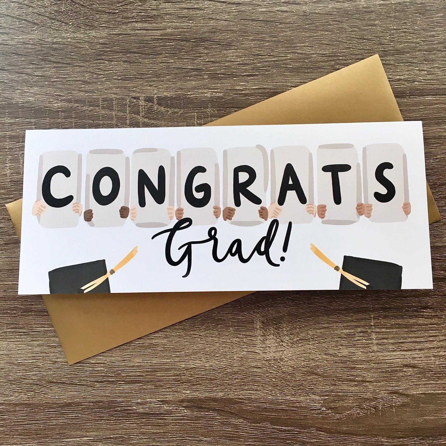 Bloomwolf Studio Congrats Grad Signs XL Greeting Card