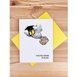 An Open Sketchbook Graduation Owl Greeting Card