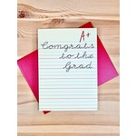 Design With Heart A+ Congrats To The Grad Greeting Card