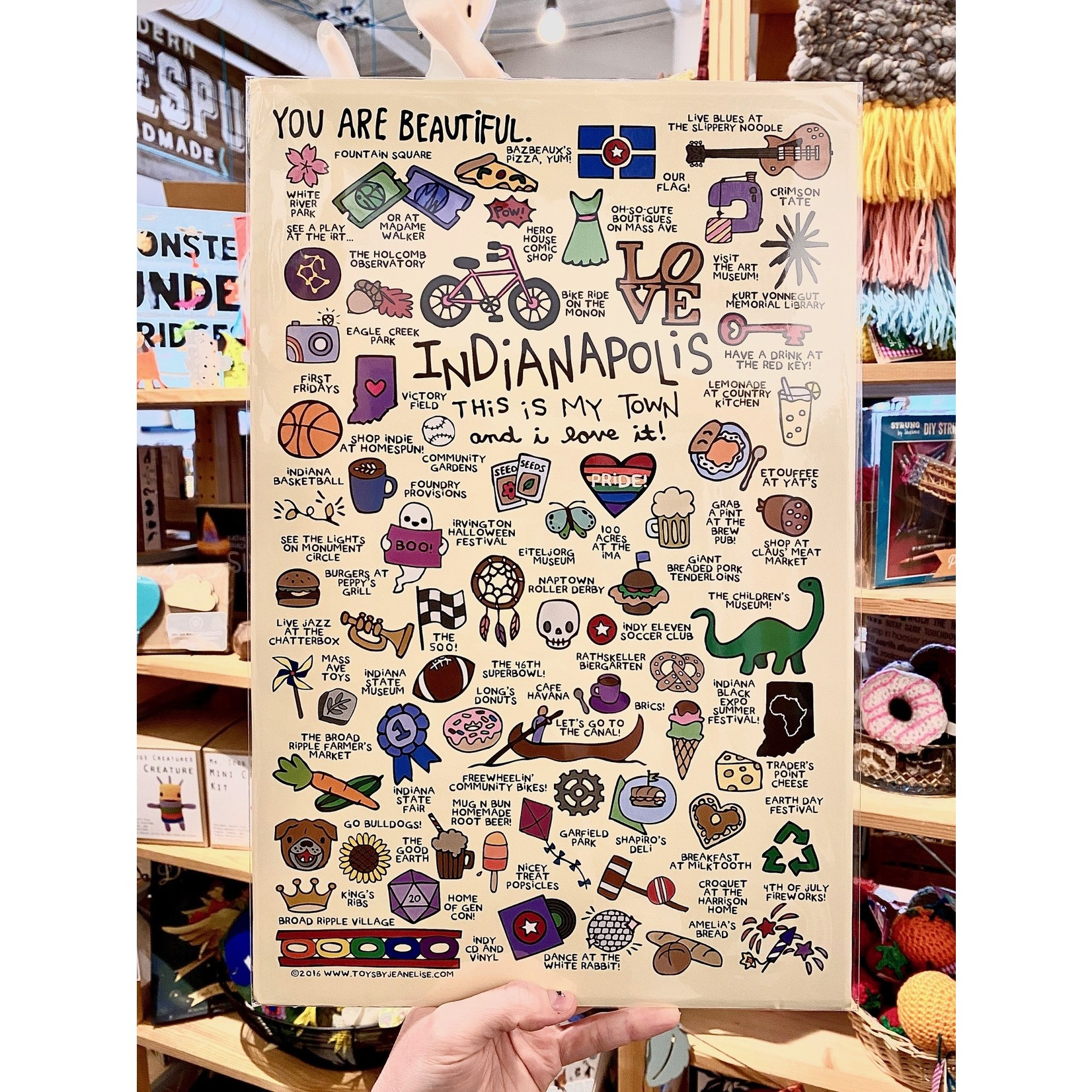 Jean Elise Designs Indianapolis Things Poster