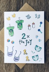 Lacelit 2X The Joy Greeting Card