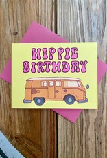 Fiber and Gloss Hippie Birthday Greeting Card