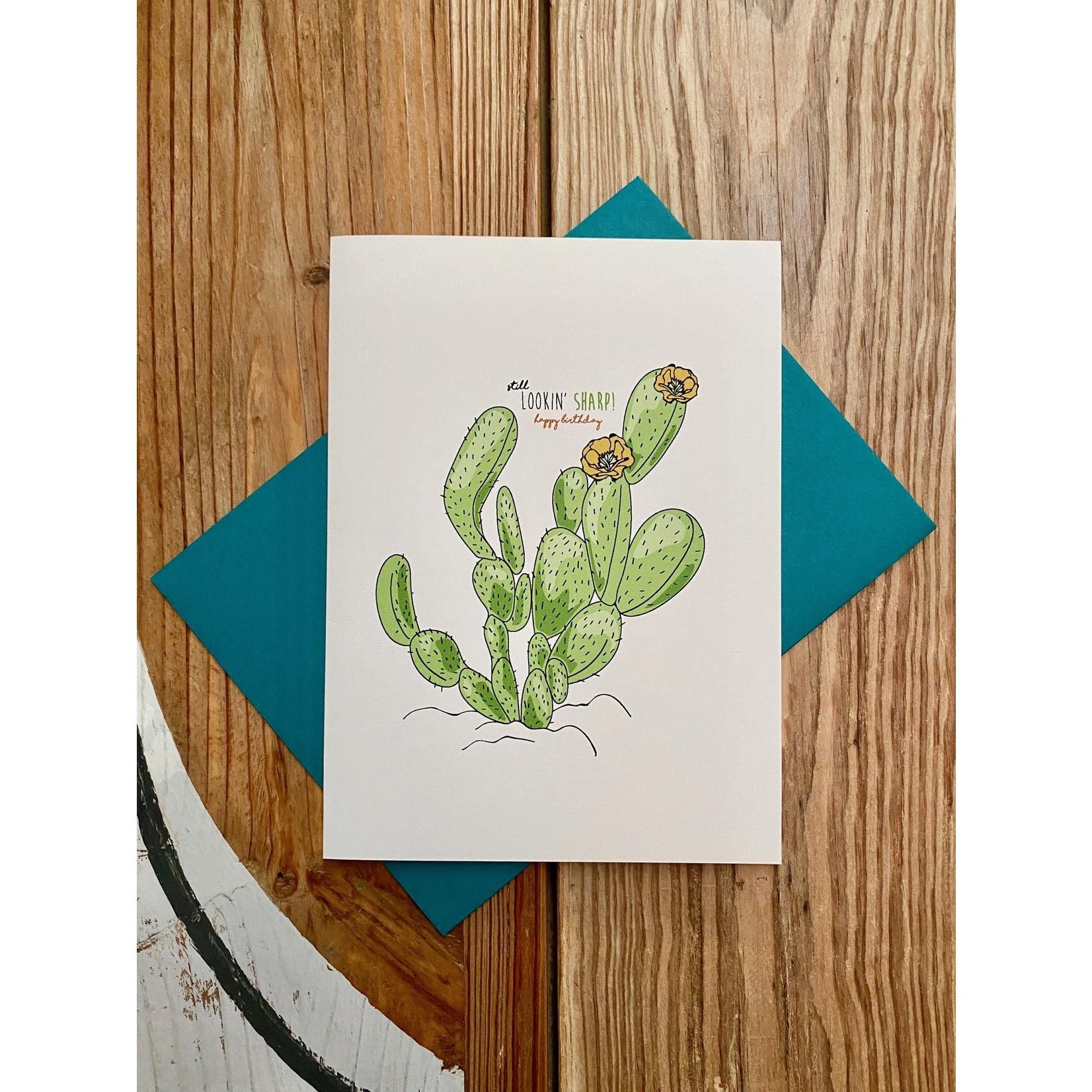 Artery Ink Nopalitos Cactus Lookin' Sharp Birthday Greeting Card