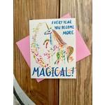 Meera Lee Patel (APO) More Magical Birthday Unicorn Greeting Card