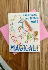 Meera Lee Patel More Magical Birthday Unicorn Greeting Card