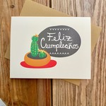 Box Berry Feliz Cumpleaños Cactus Birthday Greeting Card