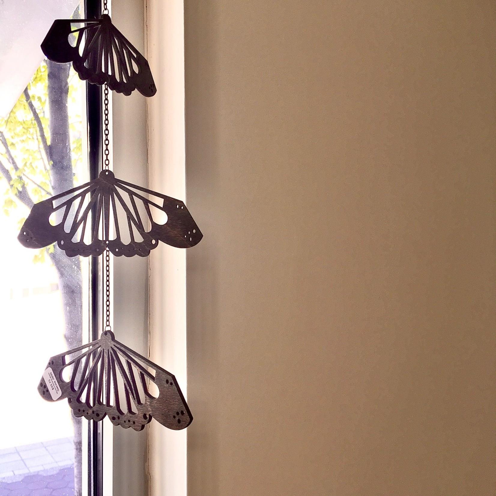 Savvie Studio Woodcut Butterfly Wall Mobile