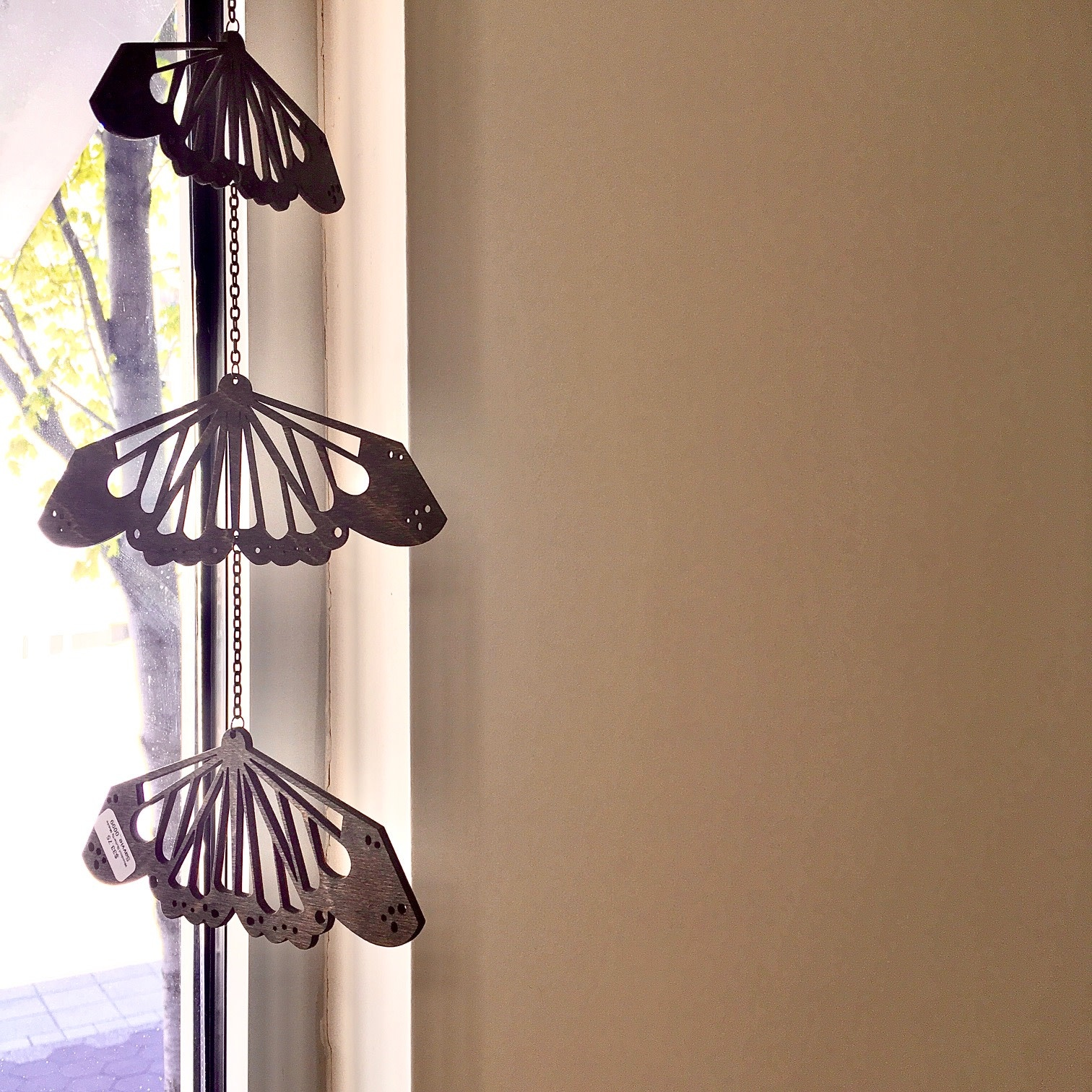 Savvie Studio Woodcut Butterfly Wall Charm