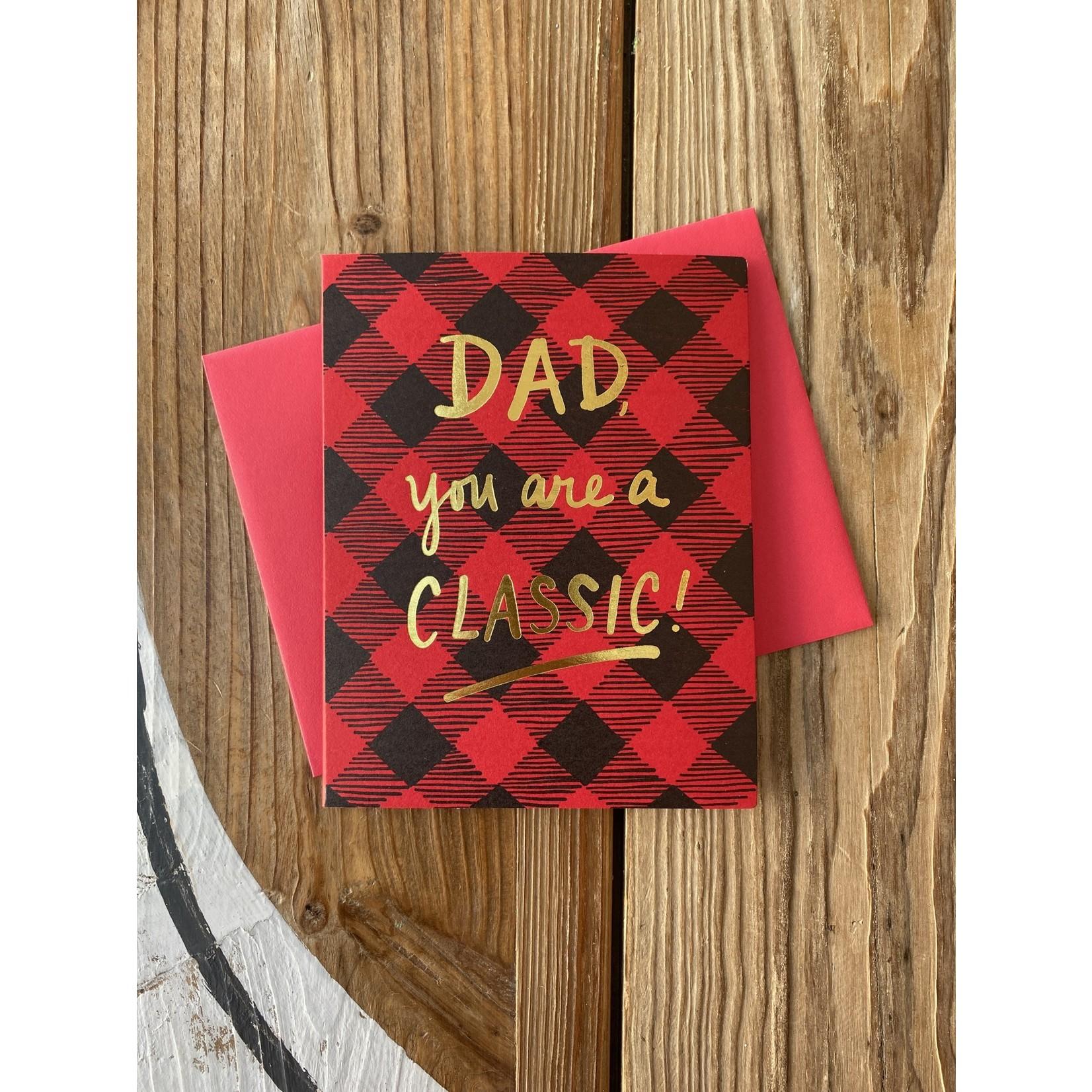 Big Wheel Press Classic Dad Plaid Greeting Card