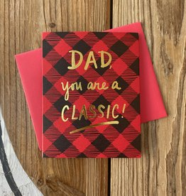 Big Wheel Press Classic Dad Plaid Greeting Card