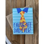 Kineticards Favorite Dad Tie Greeting Card