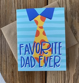 Kineticards Favorite Dad Tie Greeting Card