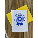 Exit343Design Father-In-Law Blue Ribbon Greeting Card