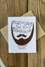 Arthur's Plaid Pants Moustache & Beard Love Greeting Card