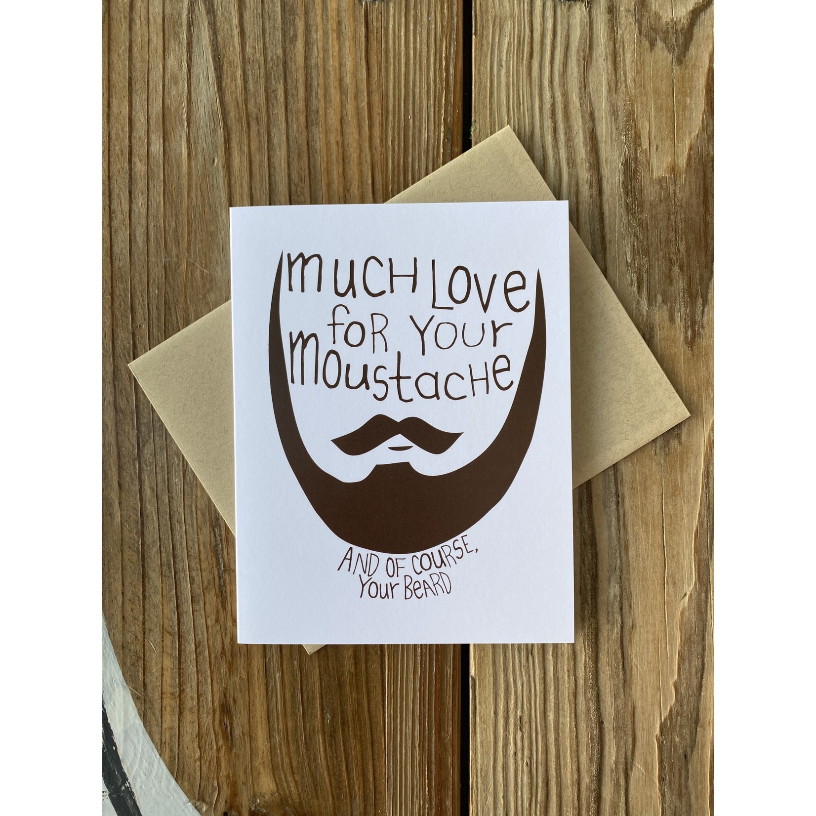 Arthur's Plaid Pants Moustache & Beard Love Greeting Card