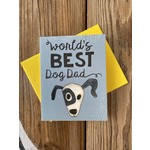 Cat People Press World's Best Dog Dad Greeting Card